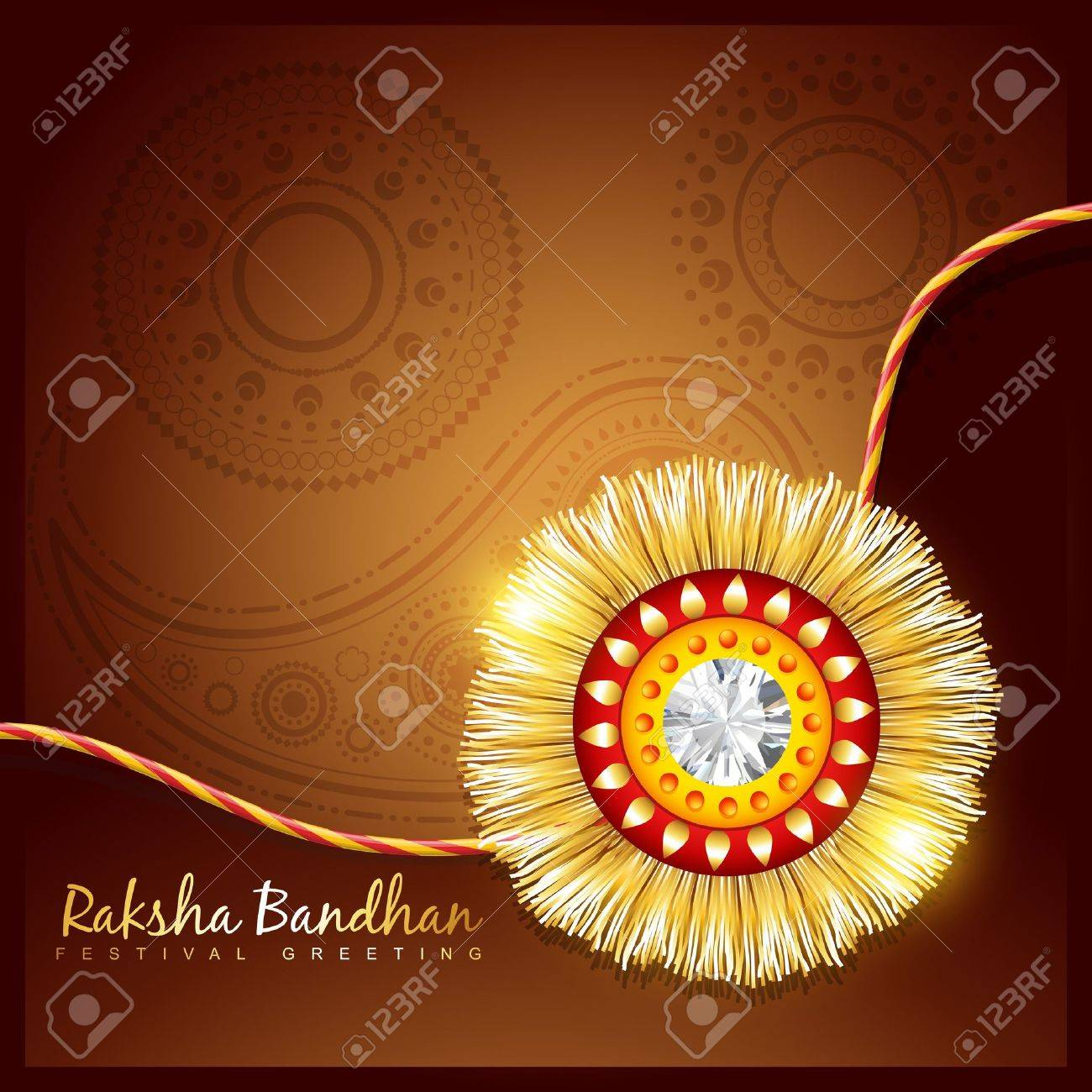 stylish rakhi background with space for your text Stock Vector - 21282035