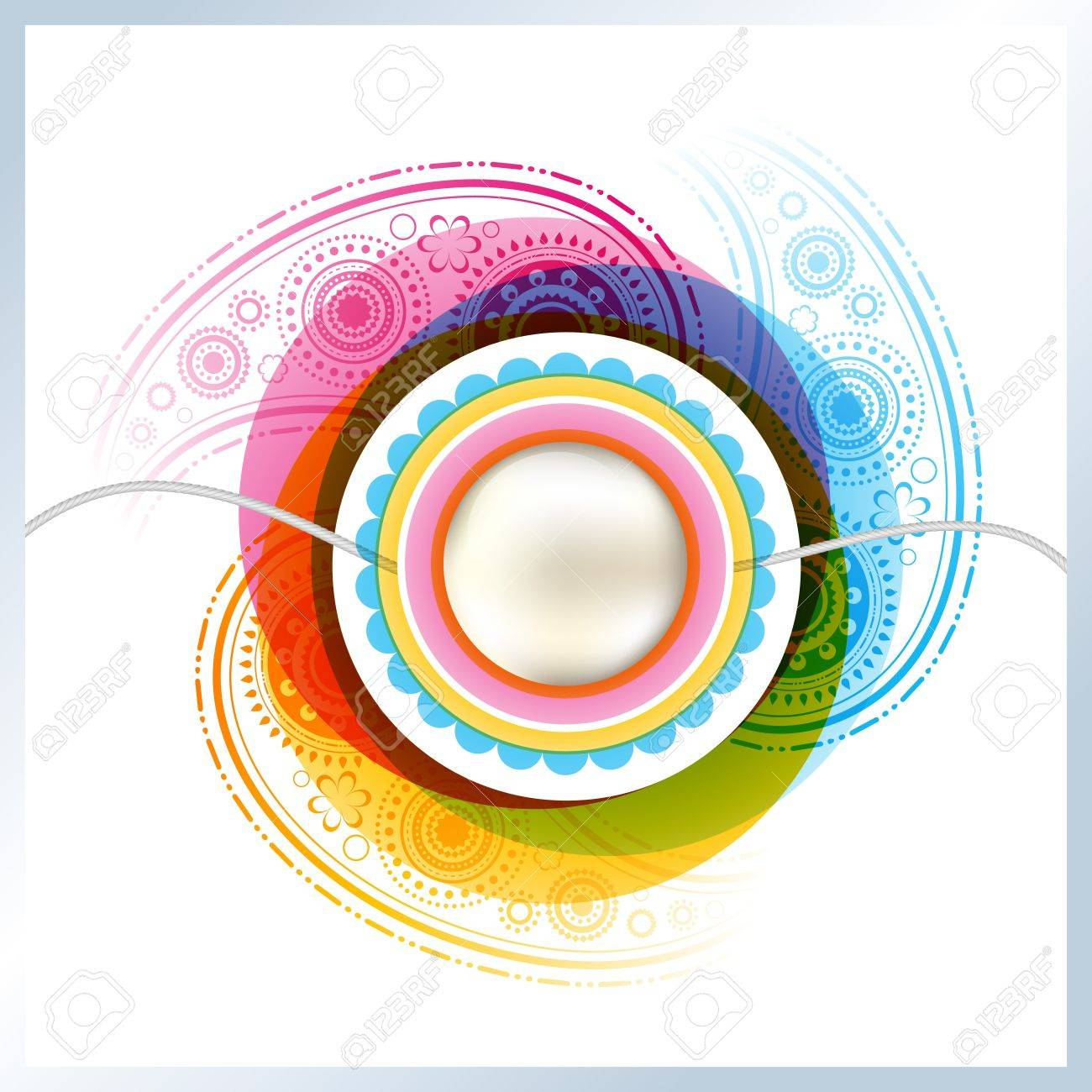 stylish rakhi background with space for your text Stock Vector - 21282129