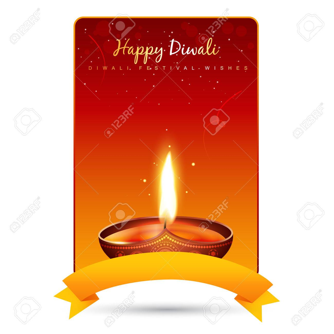 beautiful diwali diya background design with space for your text Stock Vector - 22464065