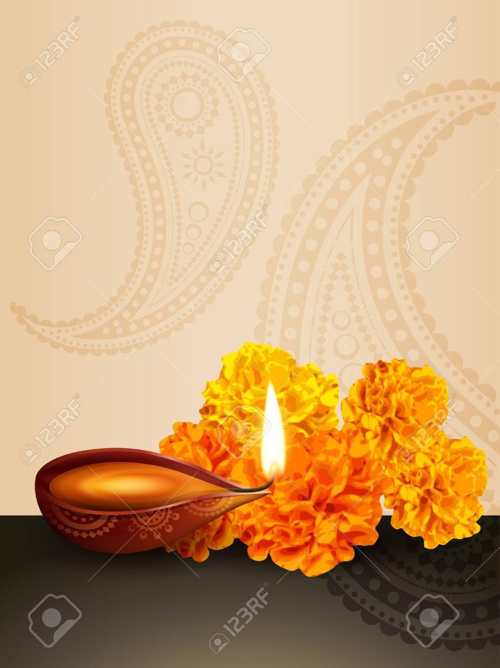 diwali festival diya vector background Stock Vector - 22464068