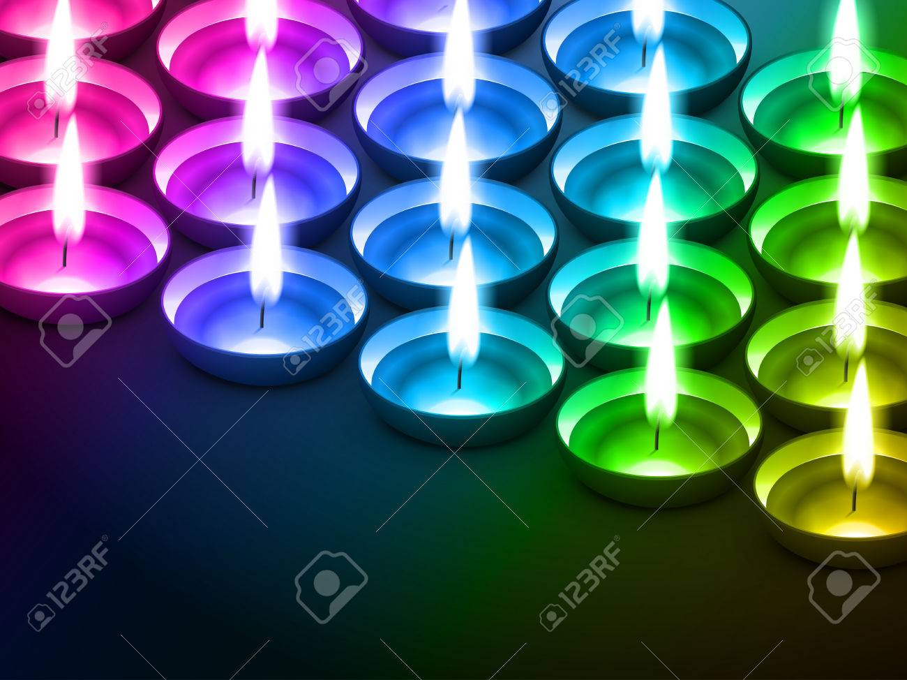 colorful diwali diya with space for your text Stock Vector - 22464207