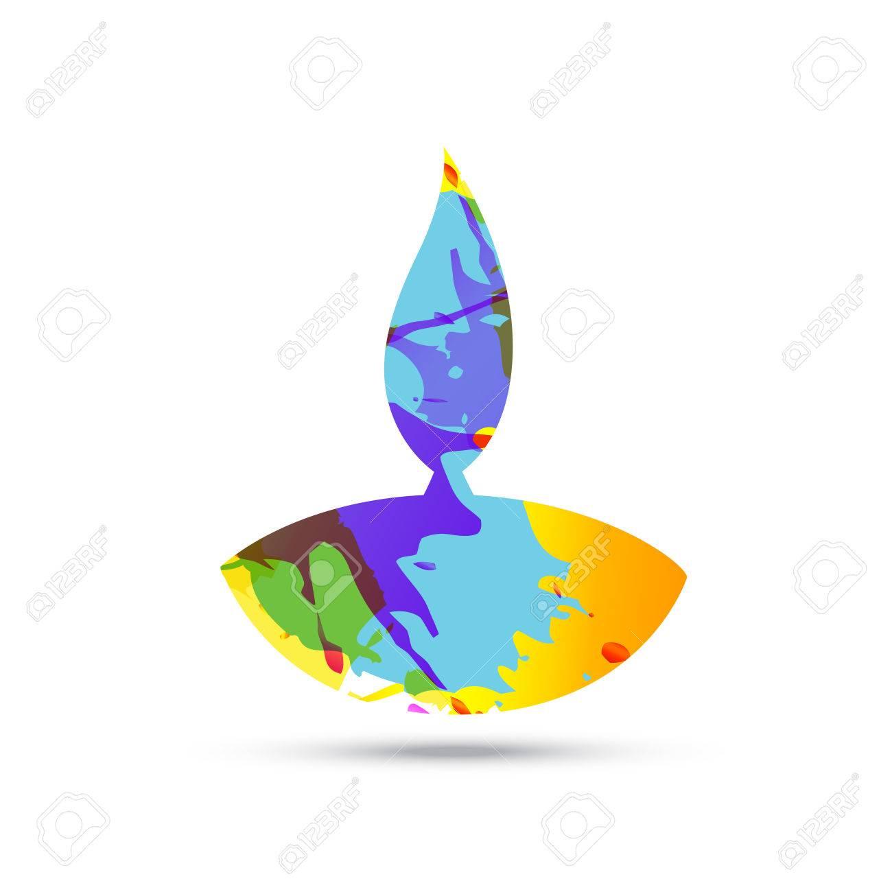 colorful diwali diya vector design Stock Vector - 22464312