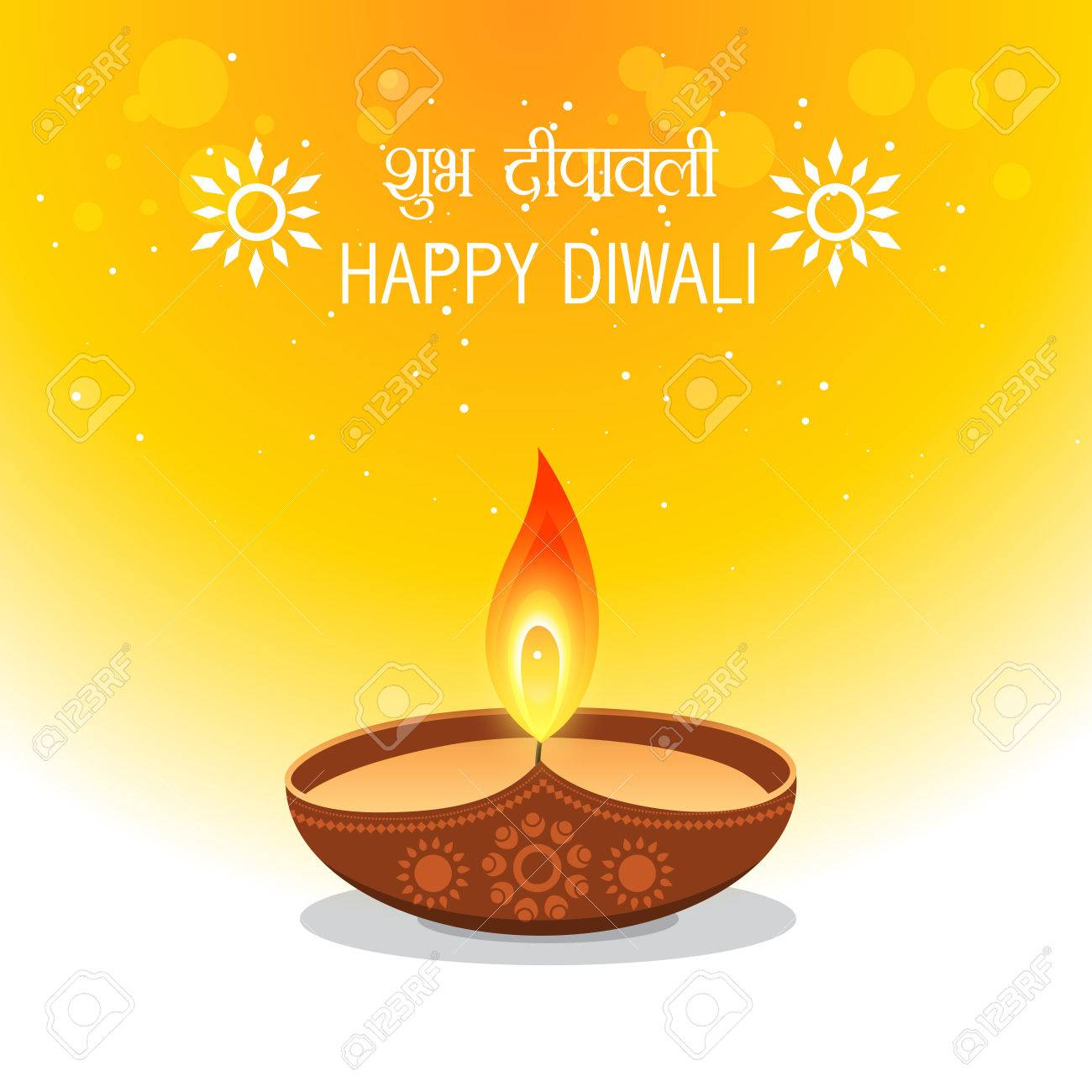 Happy Diwali Wishes Greetings Illustration Royalty Free Cliparts