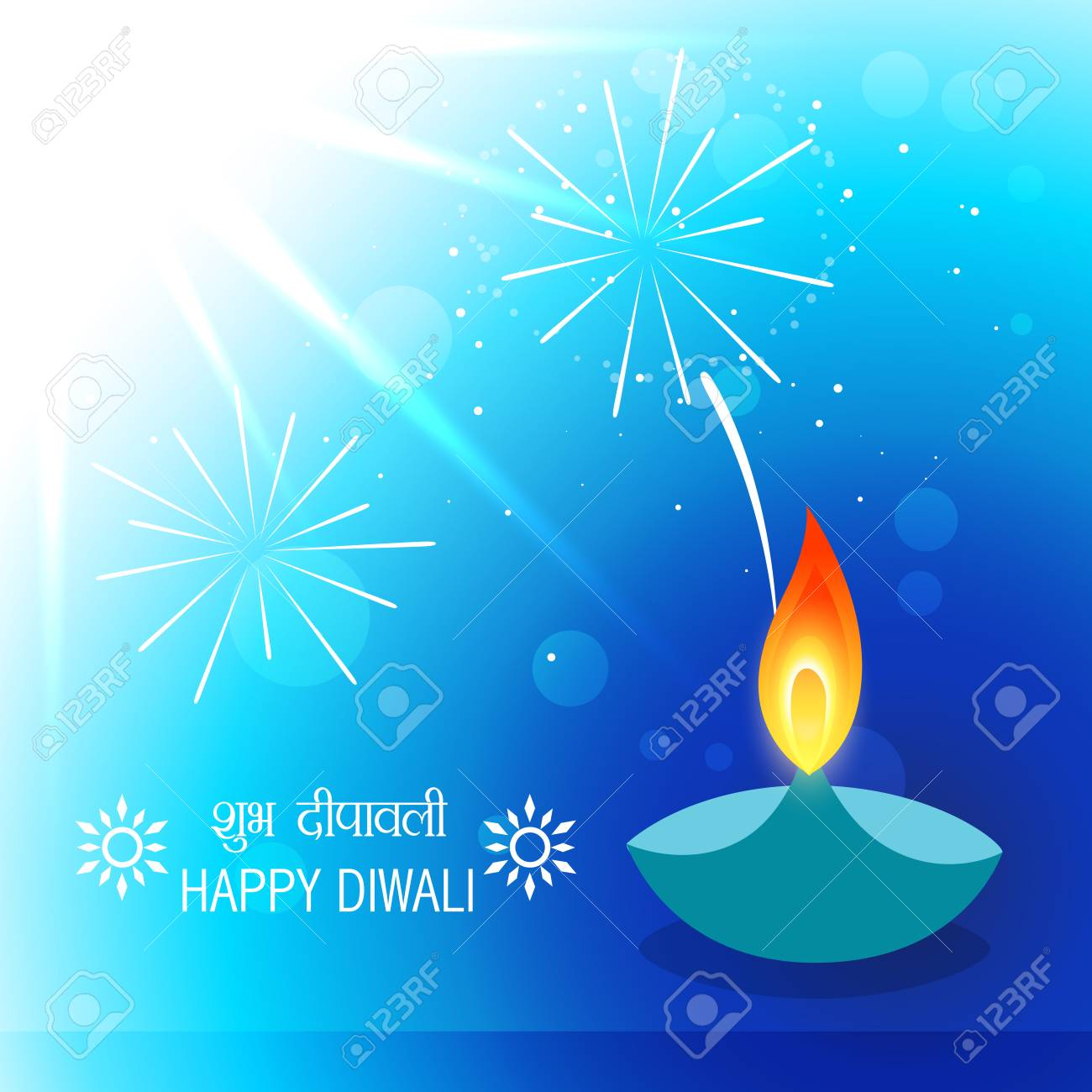 vector diwali greeting design background Stock Vector - 23064496