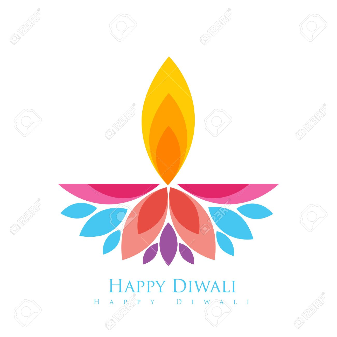 Diwali Greetings Card Vector Free Download Awesome Graphic Library