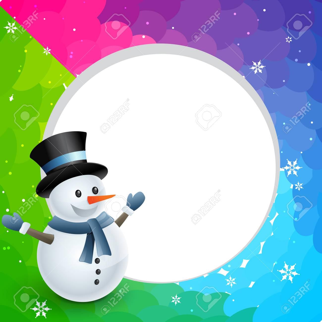 happy christmas winter snowman design illustration Stock Vector - 24307052