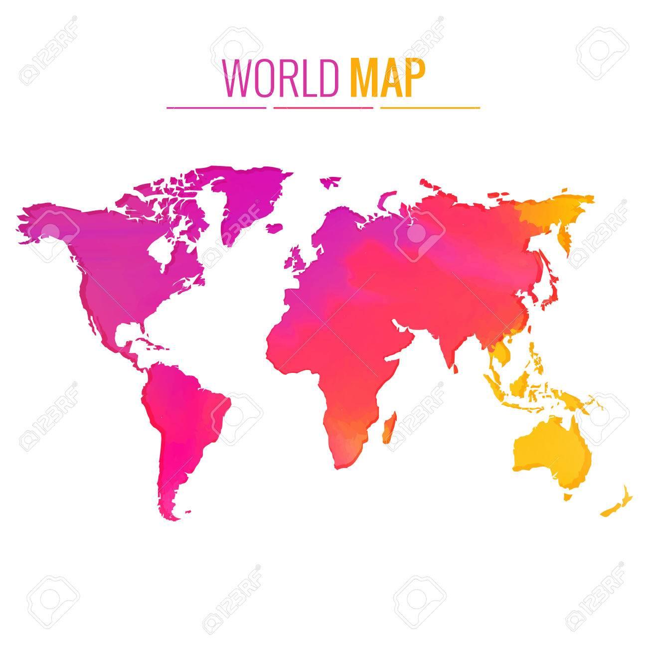 Colorful world map vector design illustration royalty free cliparts colorful world map vector design illustration stock vector 39244624 gumiabroncs Gallery