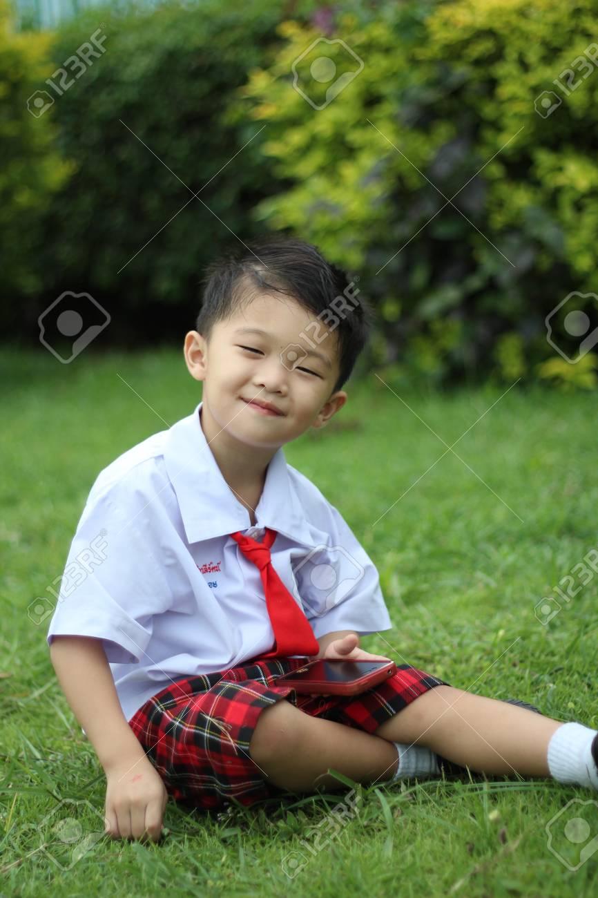 Boy in school uniform Stock Photo - 16304760