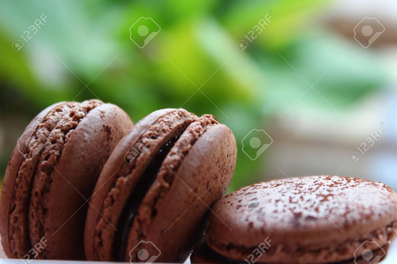 chocolate macaroons Stock Photo - 16730539