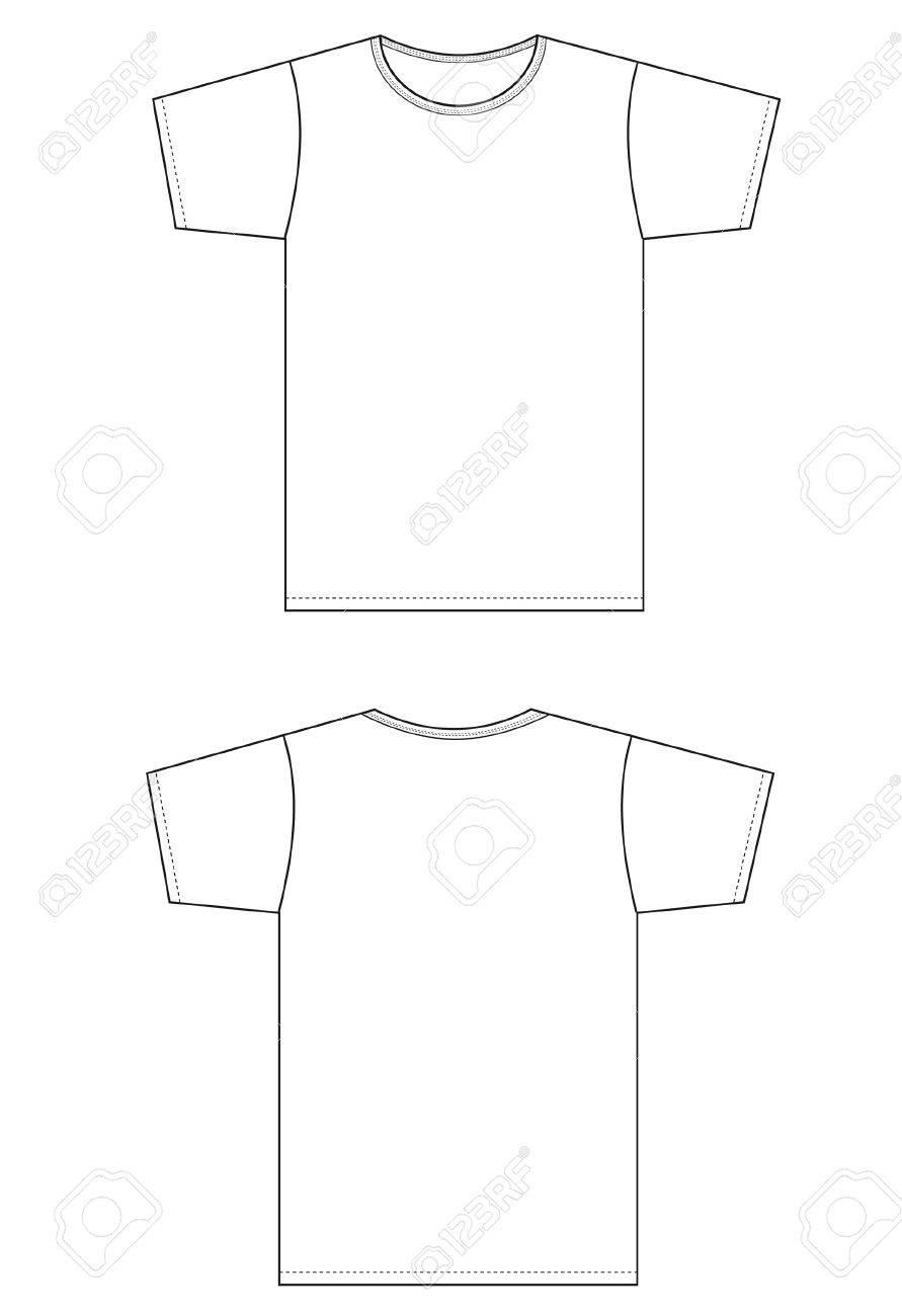 pattern type setting white shirt. Stock Vector - 10539041