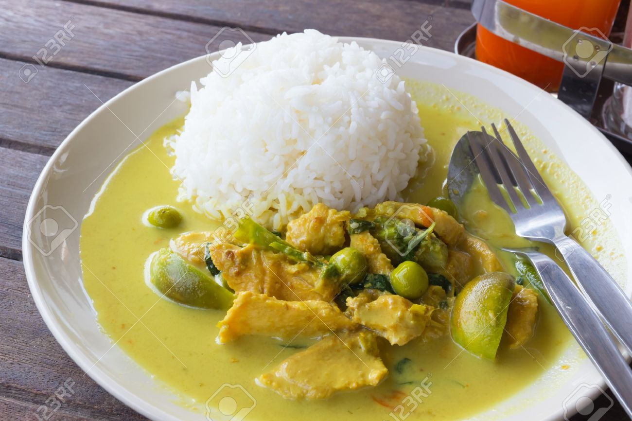 Kaeng Khiao Wan Kaior Chicken Green Curry Delicious Thai Chicken