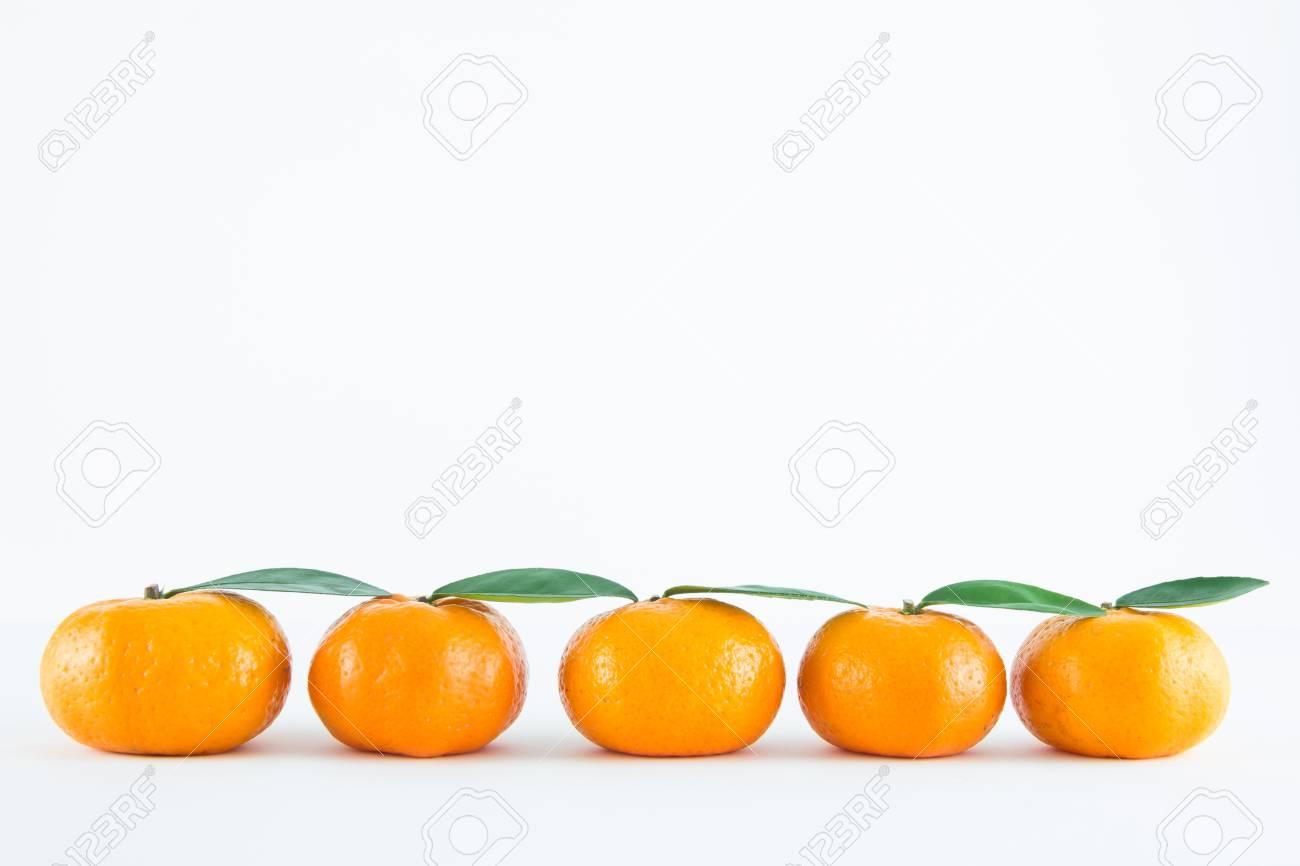 Mandarin orange, Citrus reticulata isolated on white background Stock Photo - 17714807