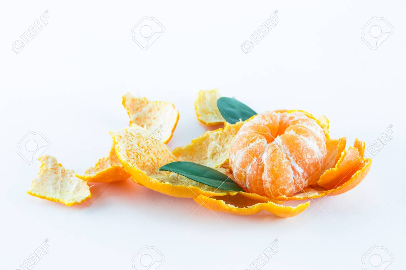 Mandarin orange, Citrus reticulata isolated on white background Stock Photo - 17714822