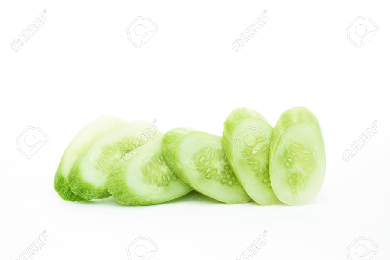 The green cucumbers isolated on white Stock Photo - 17921459