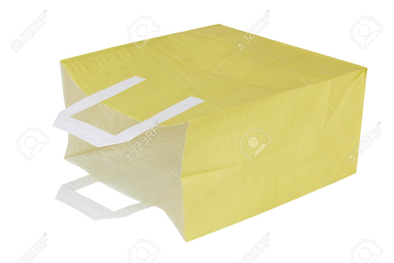 paper bag isolated on white background Stock Photo - 16400708