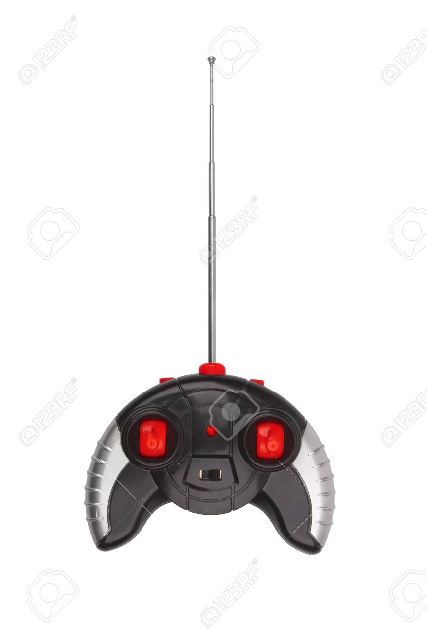 Radio remote control for toy car isolated on white Stock Photo - 19917924