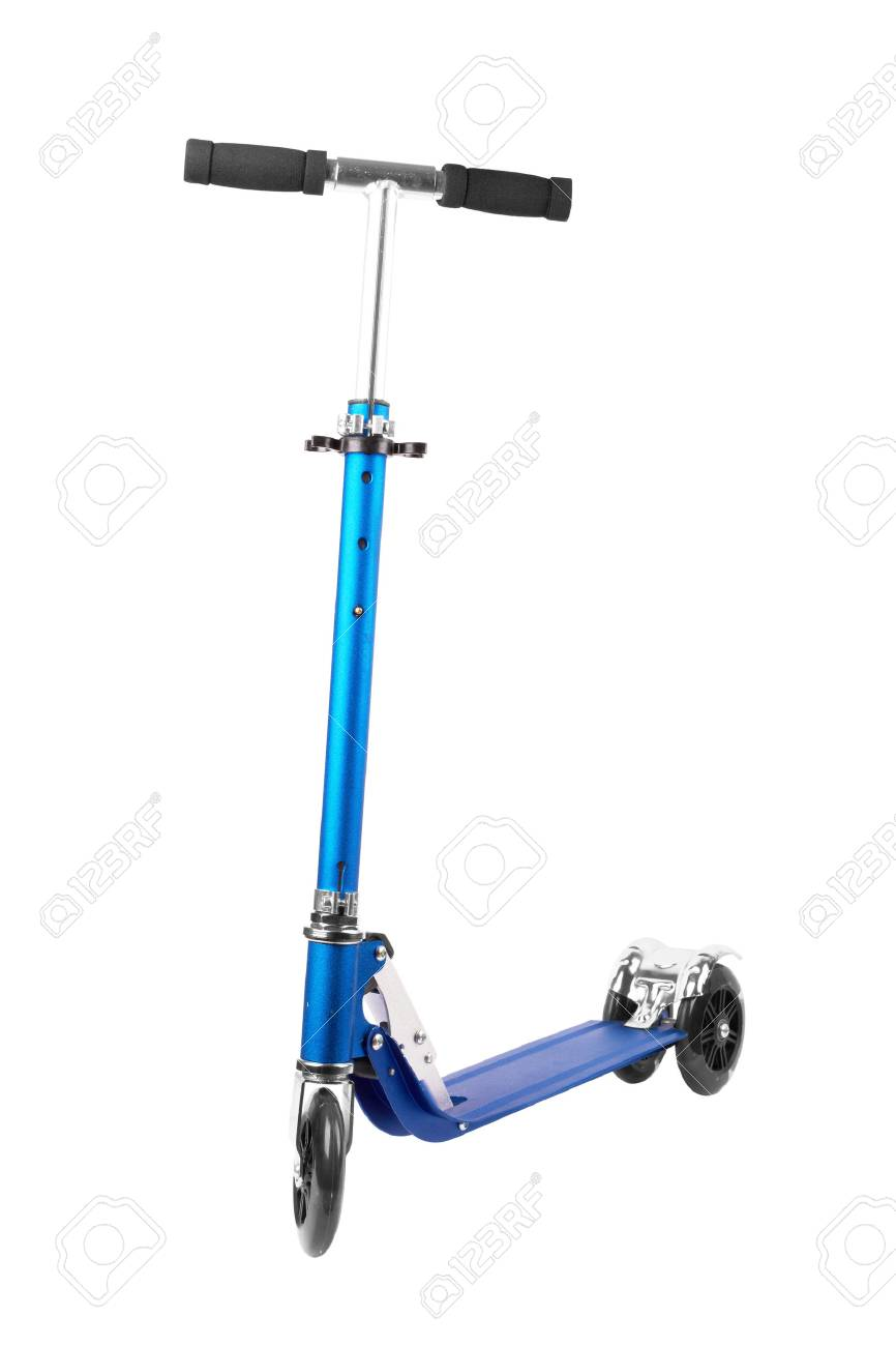 metal scooter isolated on white Stock Photo - 22706622