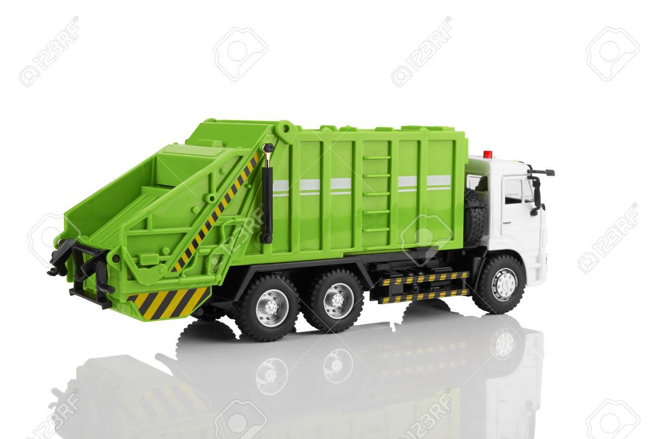 Garbage Truck Stock Photos Royalty Free Images Toy Isolated On A White Background