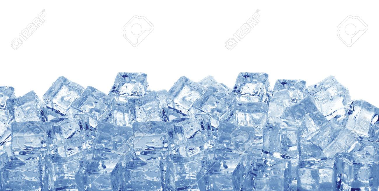 Ice Cubes Isolated On A White Background Stock Photo