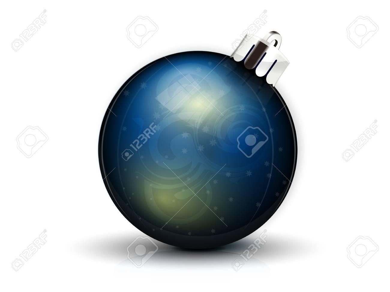 realistic dark blue fir-tree sphere Stock Vector - 16462726