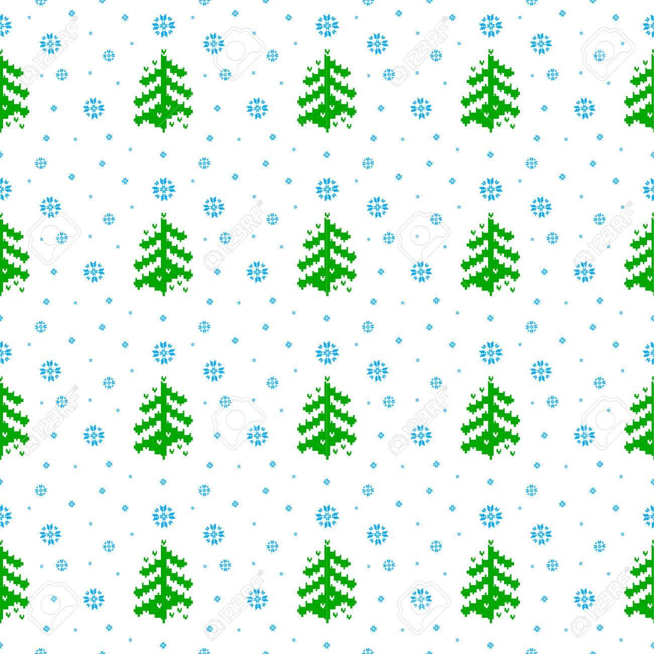 Modelo Inconsútil De La Navidad De Invierno En Los árboles De ...