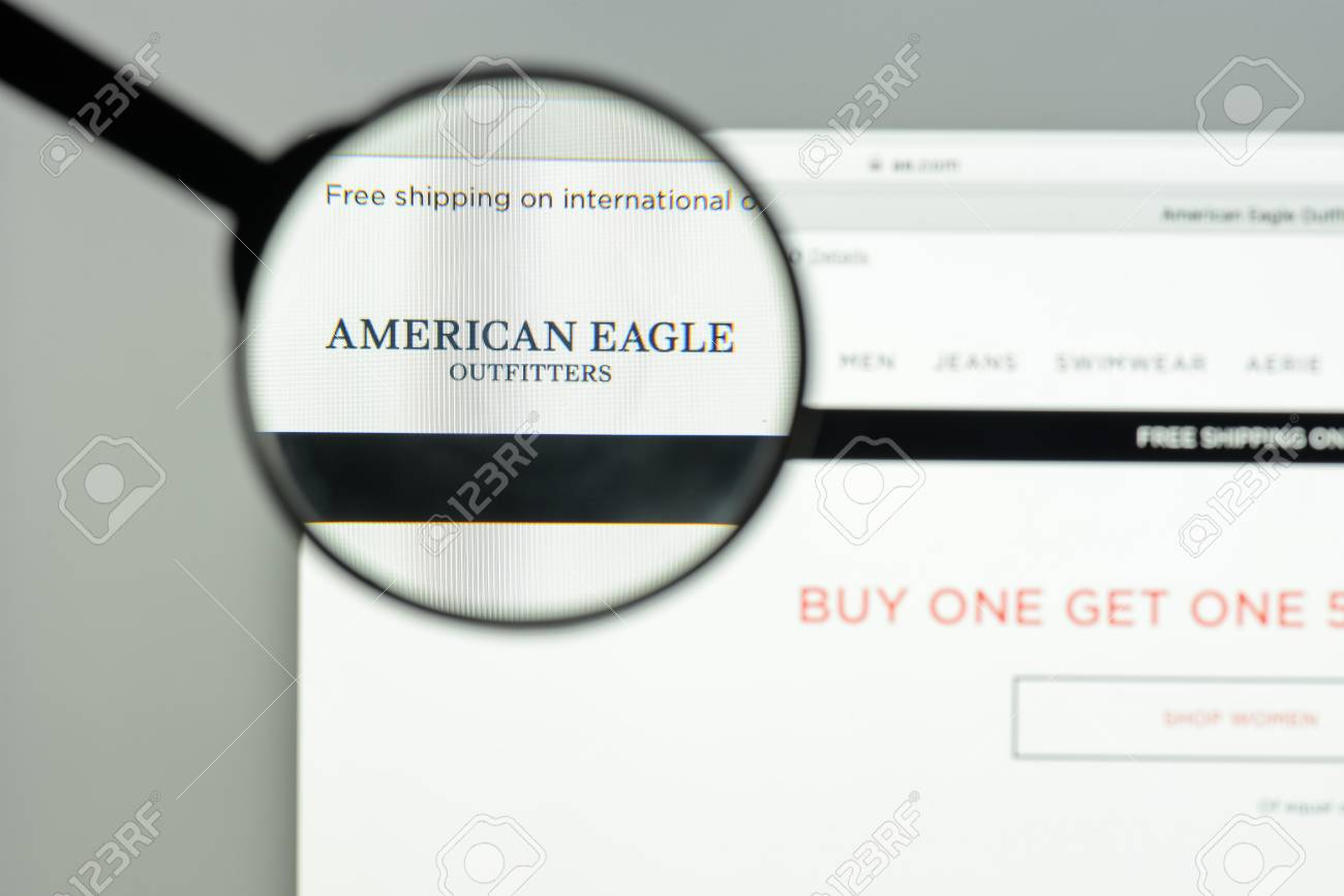 Milan, Italy - May 7, 2017: American Eagle Website Homepage... Stock ...
