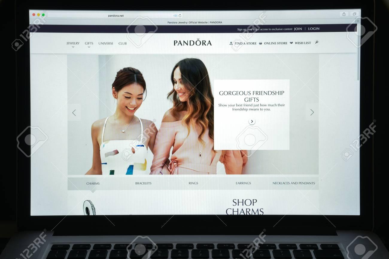 Milan, Italy - August 10, 2017: Pandora website homepage. It..