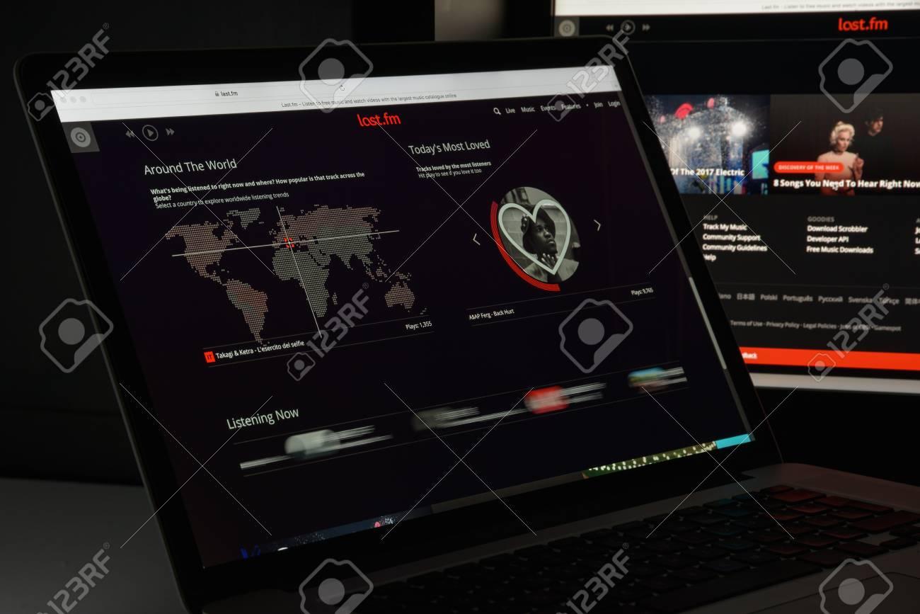 Milan, Italy - August 10, 2017: Last fm website homepage  It