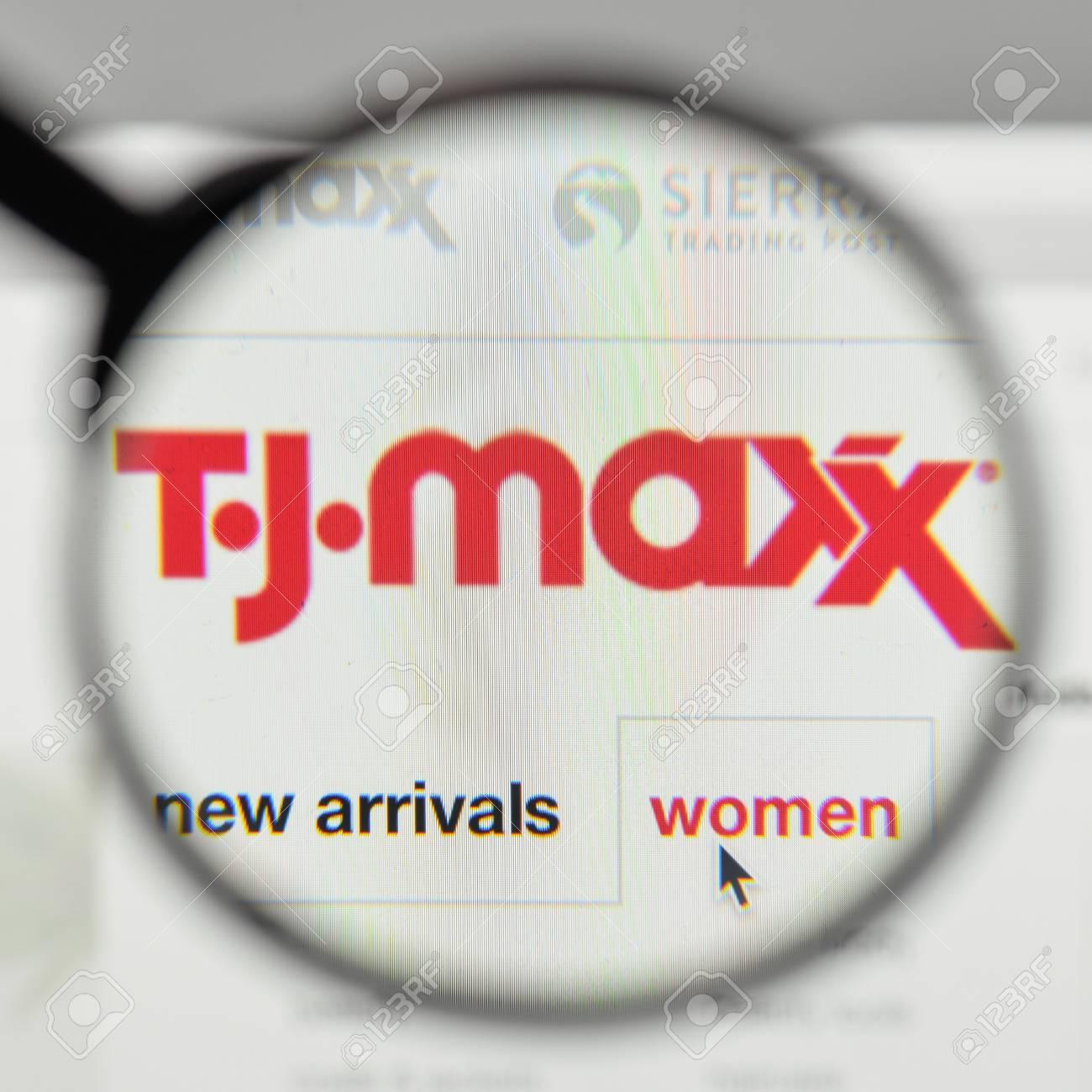 Milan, Italy - November 1, 2017: T.J. Maxx Logo On The Website ...