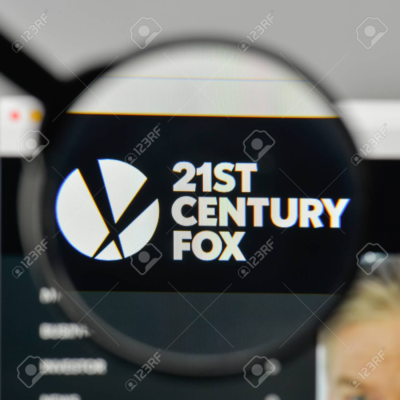 Milan, Italy - November 1, 2017: 21st Century Fox logo on the website  homepage