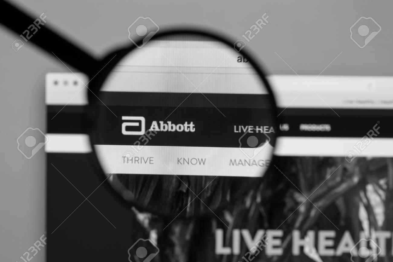 Milan, Italy - August 10, 2017: Abbott website homepage  It is
