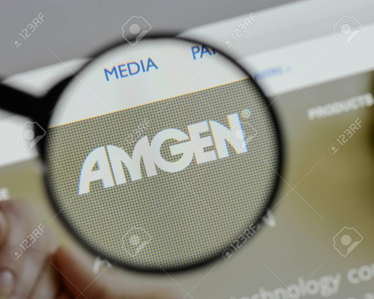 Milan, Italy - August 10, 2017: amgen website homepage  It is
