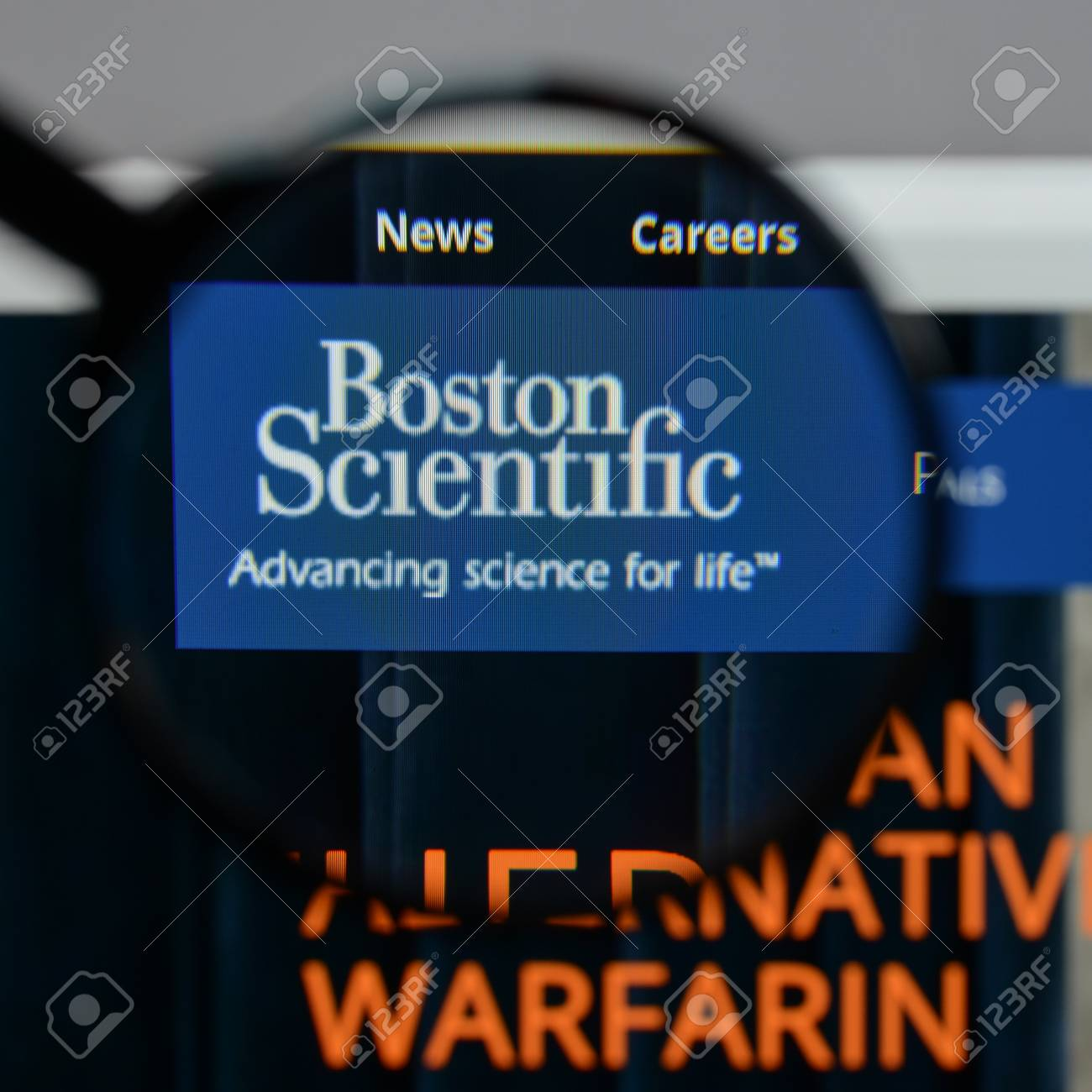 Milan, Italy - August 10, 2017: Boston Scientific Logo On