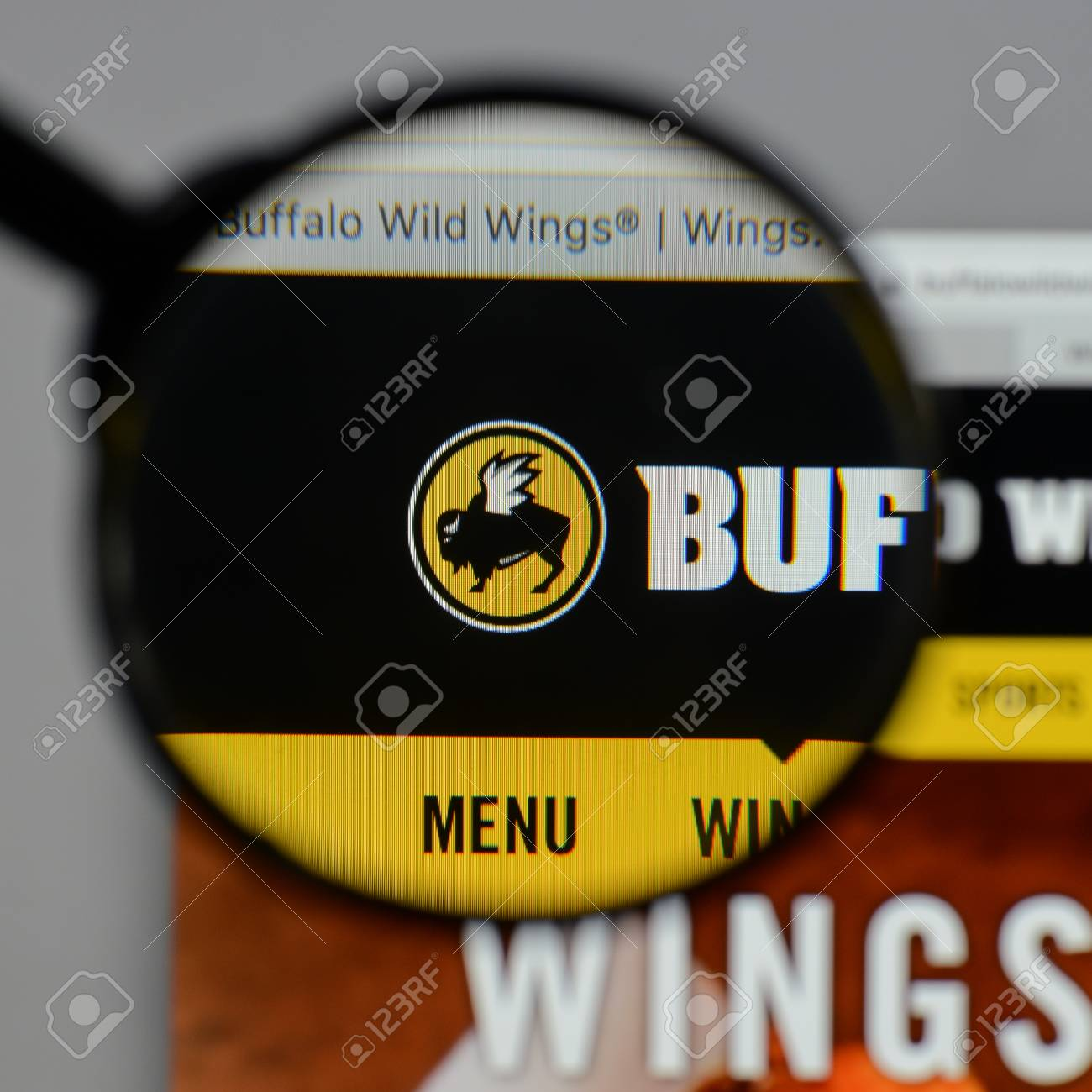 Milan Italy August 10 2017 Buffalo Wild Wings Logo On The