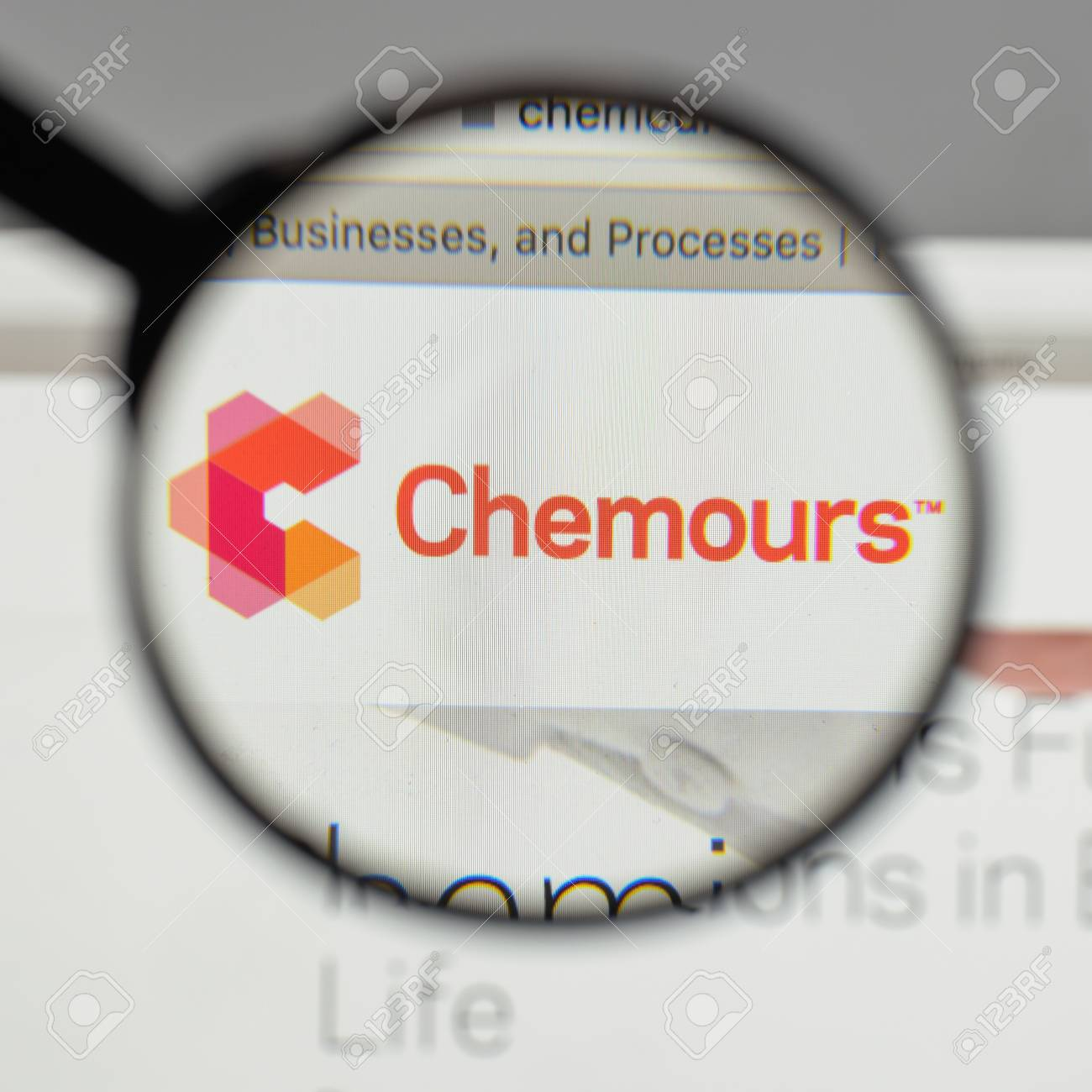 Milan, Italy - August 10, 2017: Chemours logo on the website