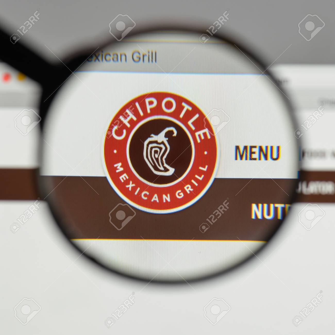 Milan Italy August 10 2017 Chipotle Mexican Grill Logo On