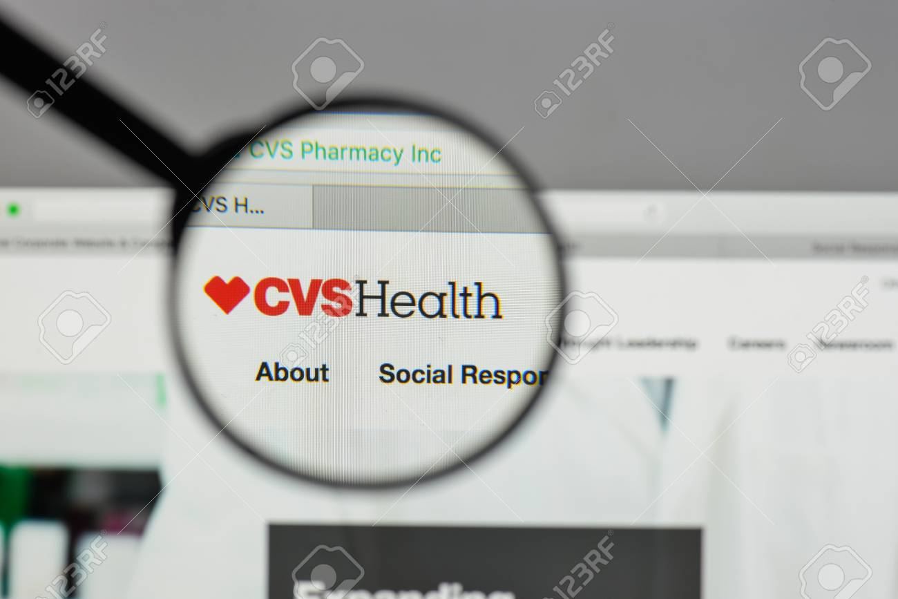 milan italy august 10 2017 cvs logo on the website homepage