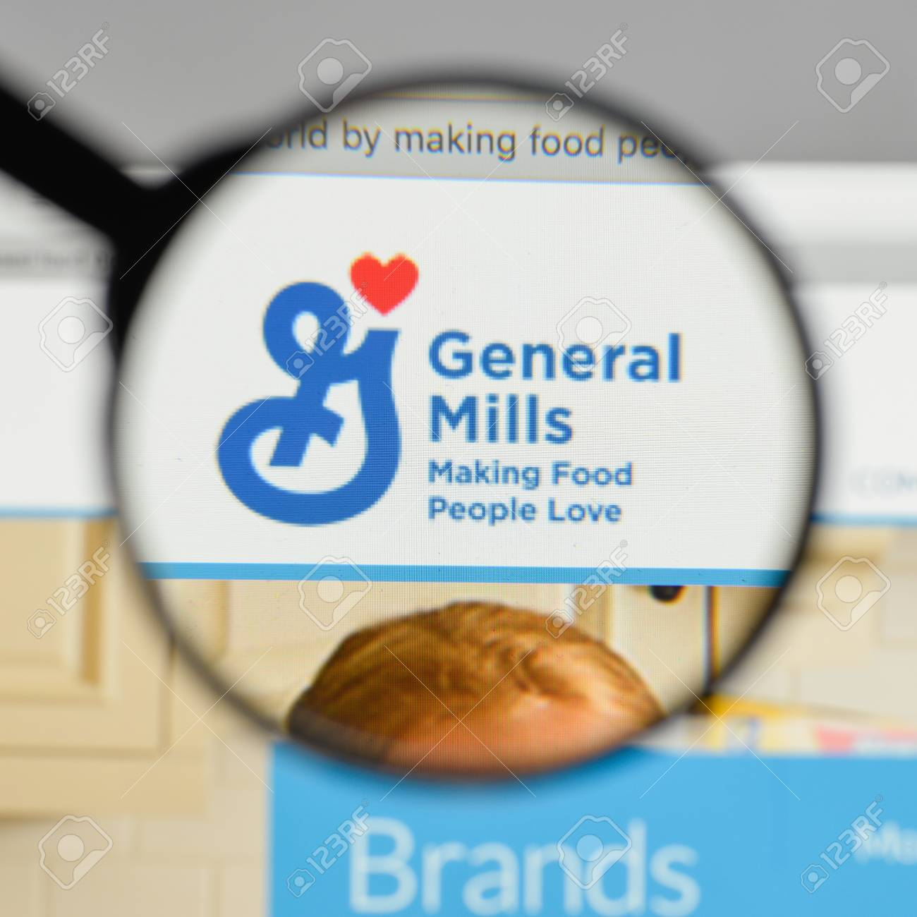 Milan Italy August 10 2017 General Mills Logo On The Website