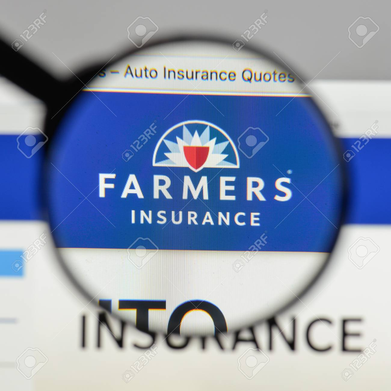 Farmers Auto Insurance >> Milan Italy August 10 2017 Farmers Insurance Exchange Logo