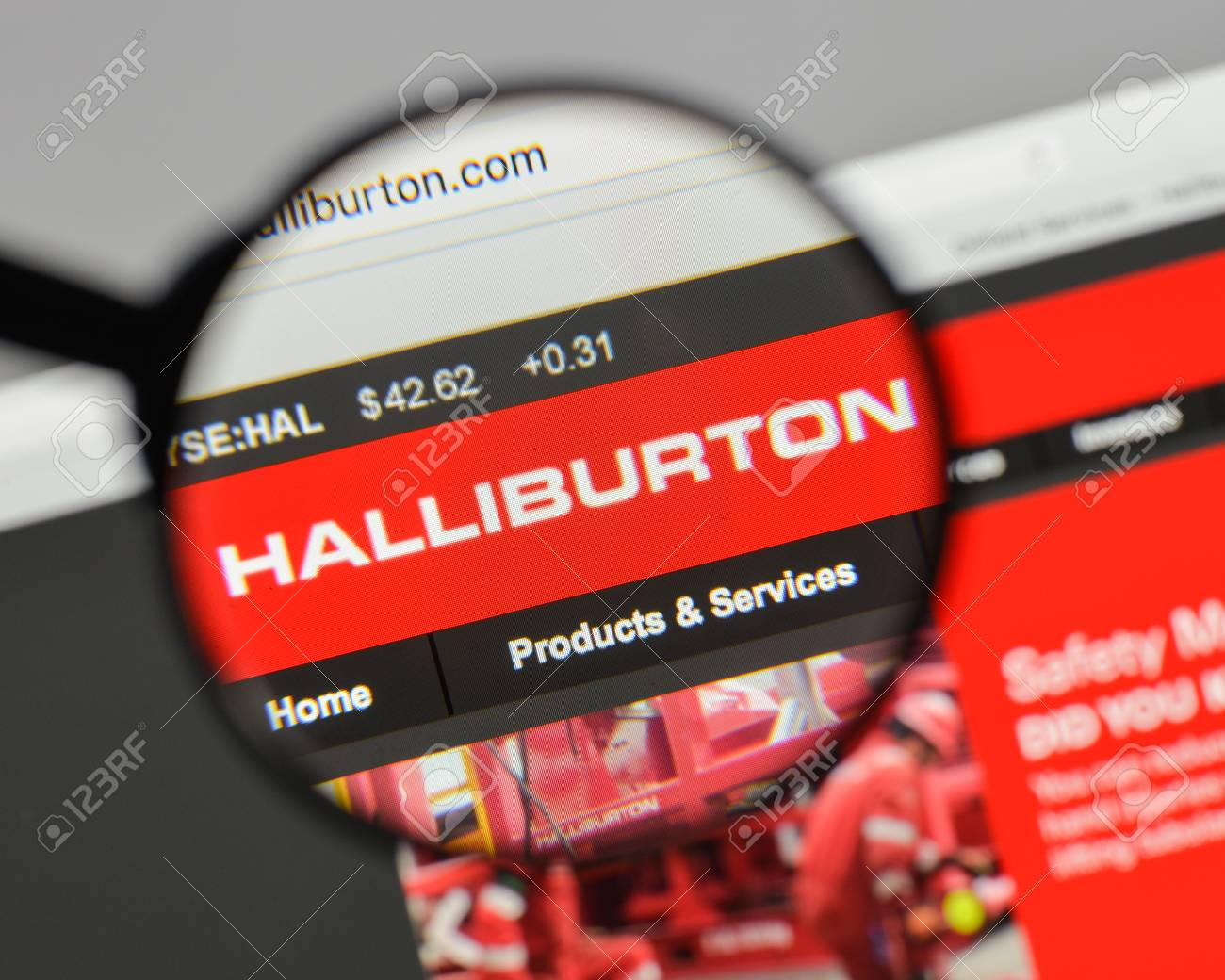 10 Inspirerende Hallen : Milan italy august 10 2017: halliburton logo on the website