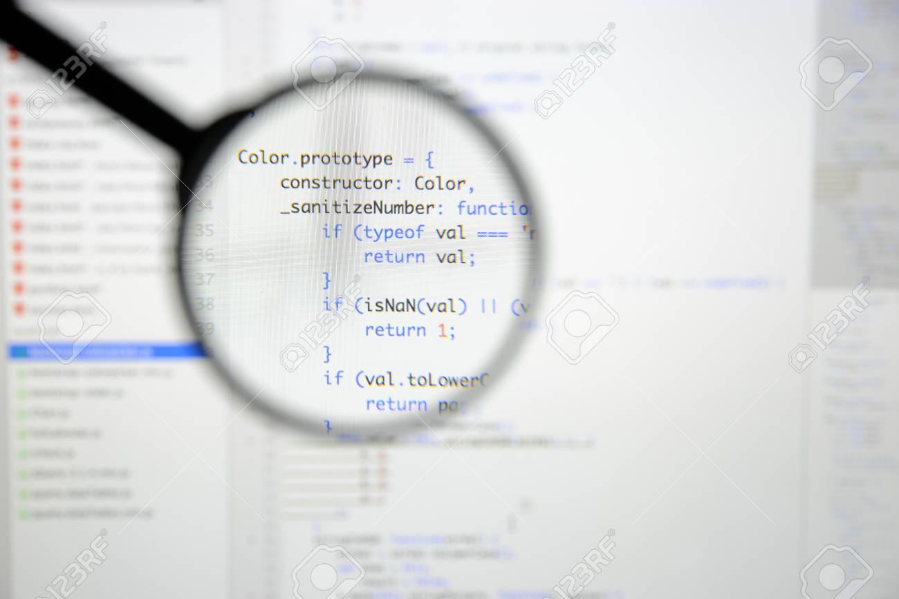 Real java script code developing screen programing workflow stock real java script code developing screen programing workflow abstract algorithm concept closeup of java ccuart Choice Image