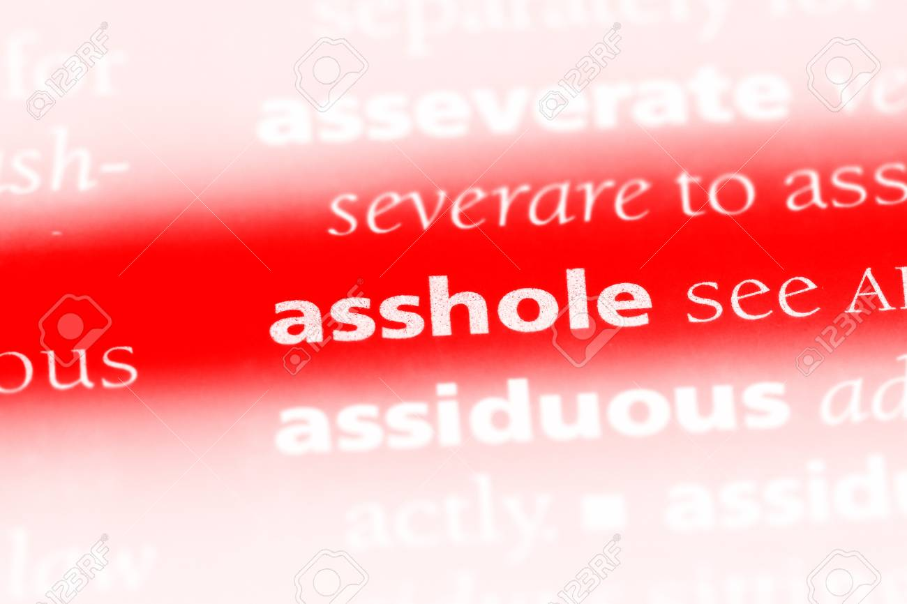 asshole word in a dictionary. asshole concept. Stock Photo - 99600173