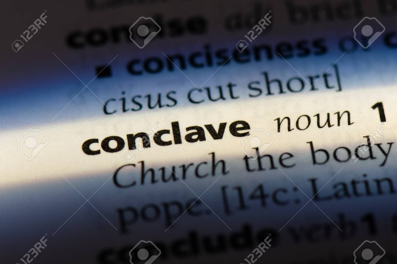 Conclave Word In A Dictionary. Conclave Concept. Stock Photo ...