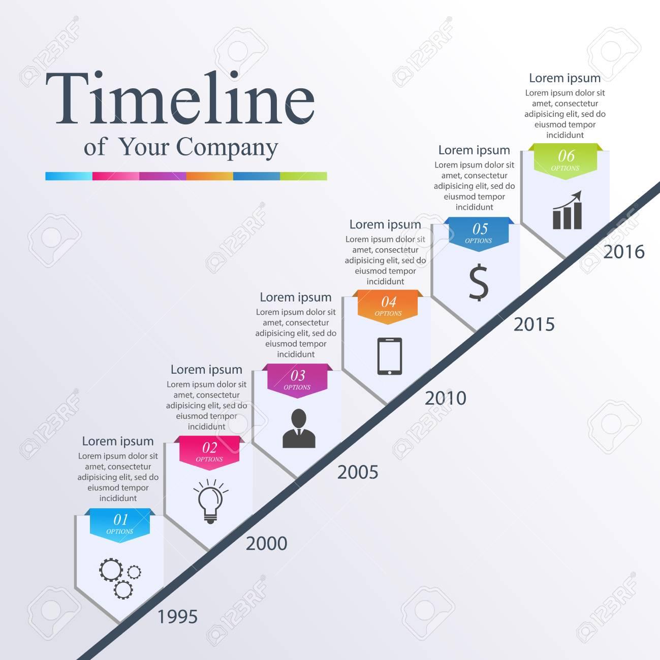 Infografía Línea De Tiempo. Vector Ilustración De Diseño De La ...