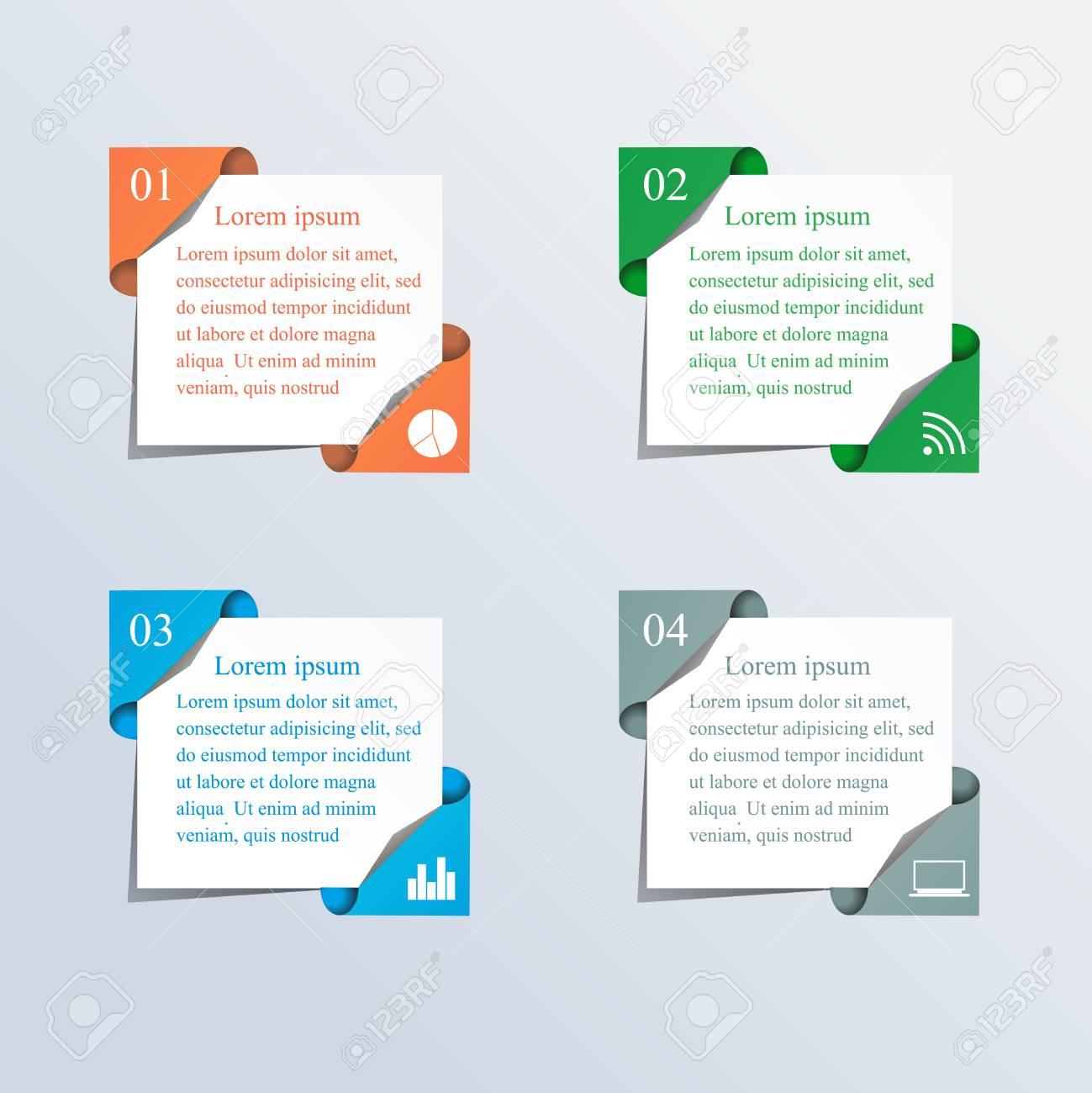 Vector Cajas De Colores De Texto, Colores De Moda. Ilustración Del ...