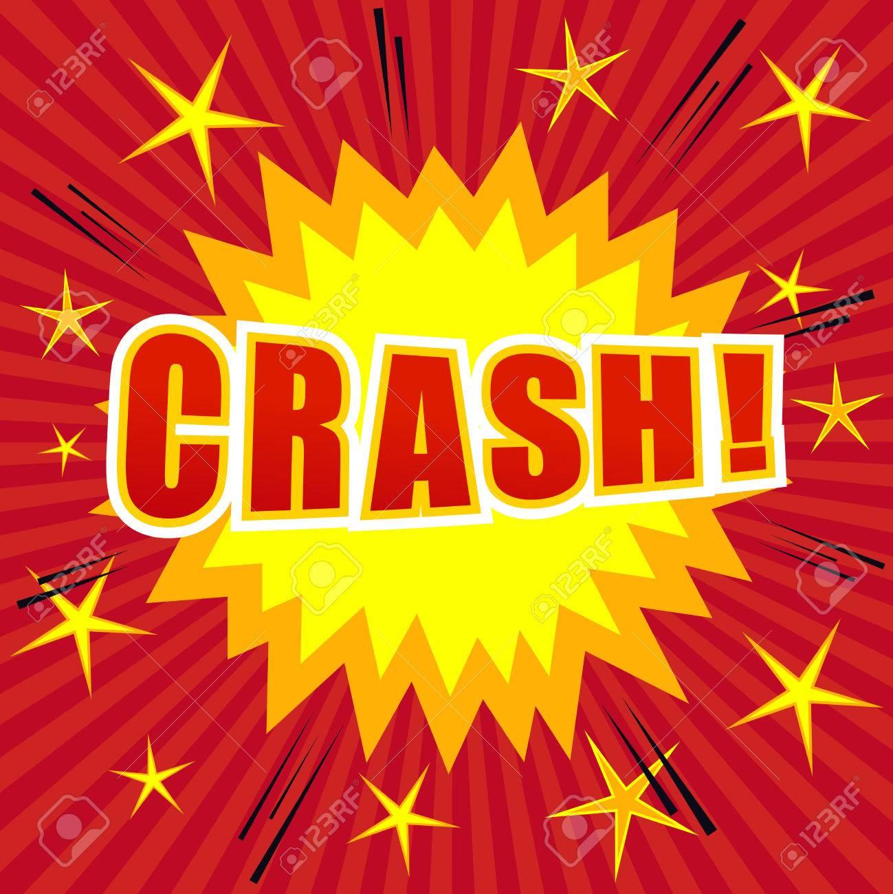Crash comic cartoon  Pop-art style  The illustration with stars,