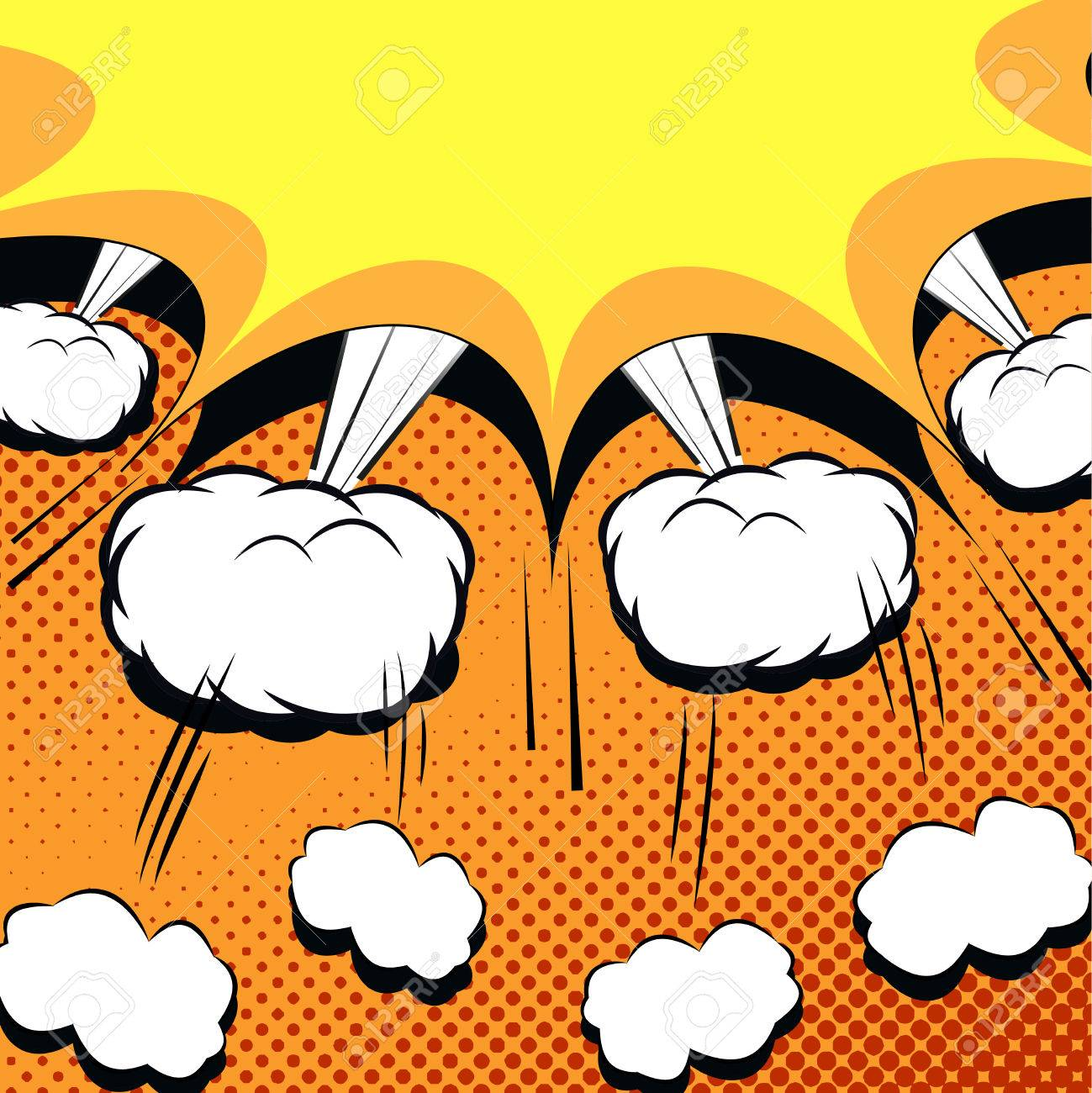 comic book cartoon with explosion vector illustration with exploded