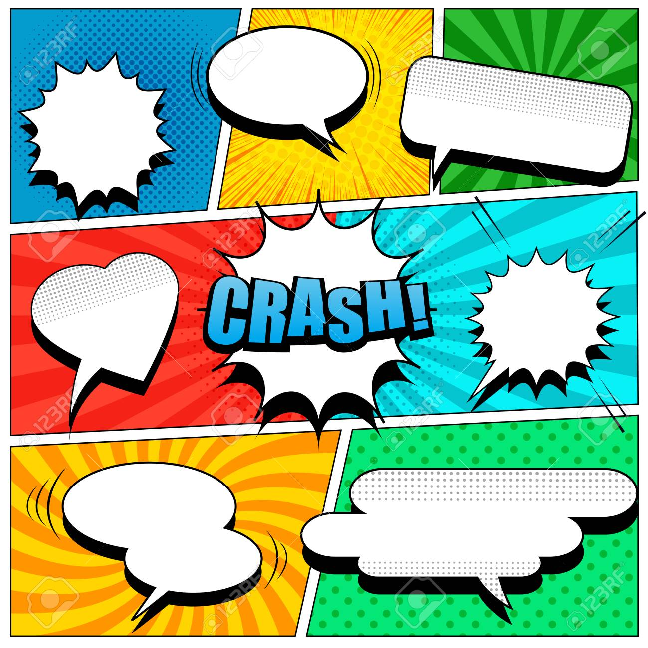 Comic Book Page Template Royalty Free Cliparts, Vectors, And Stock ...