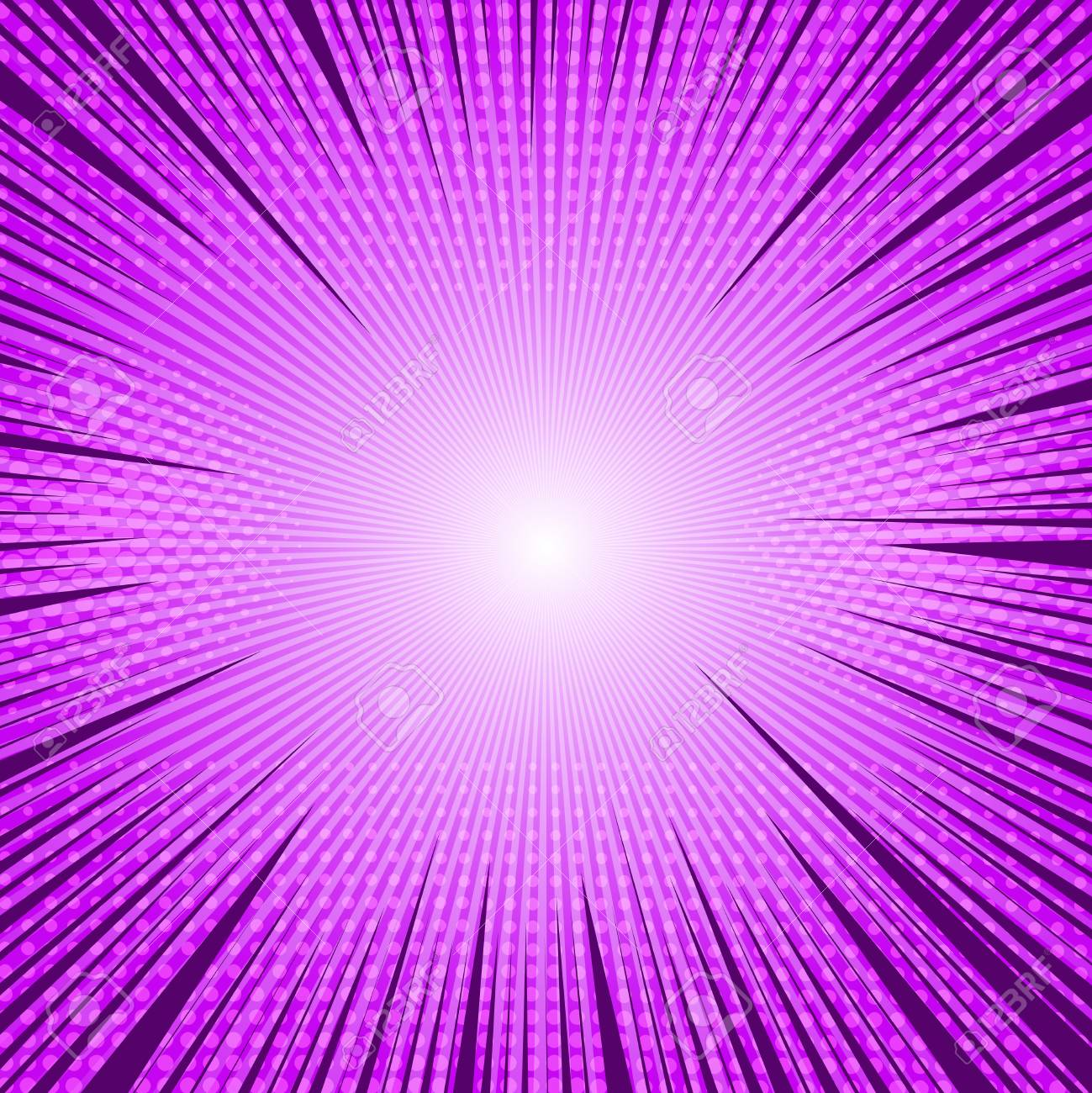 Comic Purple Light Blank Background With Rays Radial And Halftone Royalty Free Cliparts Vectors And Stock Illustration Image 98113898