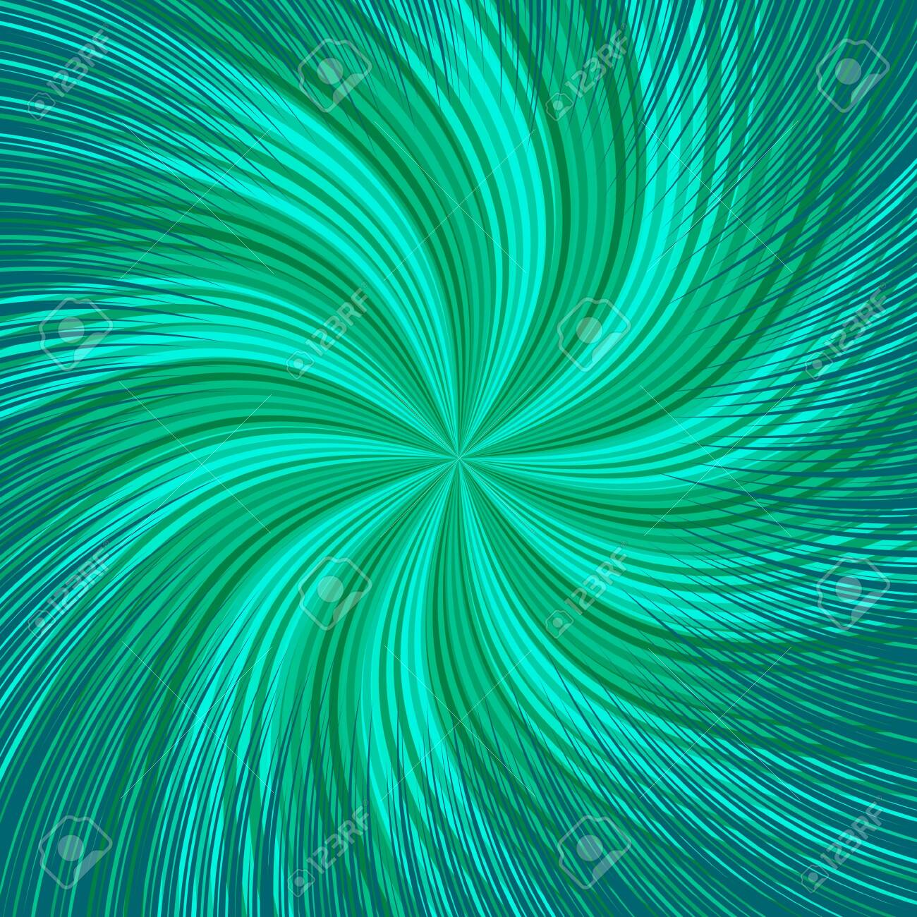 Comic abstract twisted background with green radial and rays effects. Vector illustration - 146093531